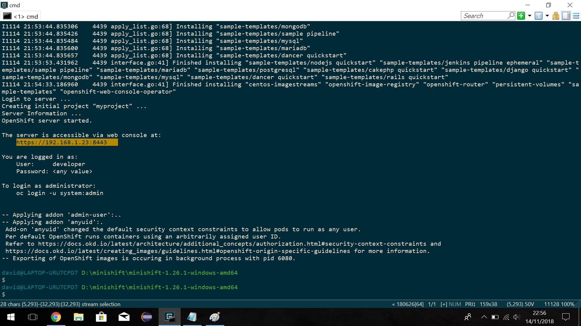 Install Minishift on Windows 10 with Hyper-V - My Java